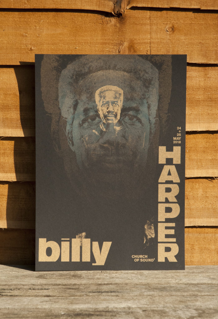 billy harper church of sound poster designer